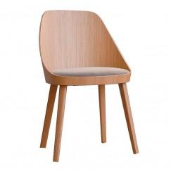 Dřevěná židle Kaiak s polstrováním