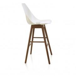 X barová židle na bukové podnoži
