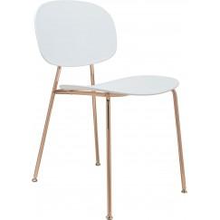 Moderní jídelní židle v retro dizajnu a medenej konstrukcie