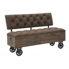Čalúněná lavička Industry indistriálného designu