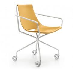 Luxusná kožená stolička na kolieskach Apelle