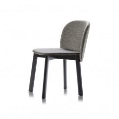 čalouněná židle Chips S na dřevěné bukové podnoži