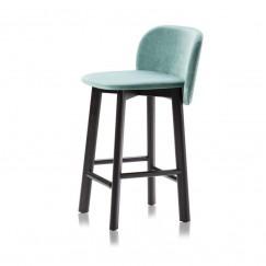 Barová židle Chips na dřevěné bukové podnoži