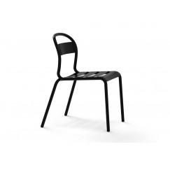 Moderná kovová stolička Stecca