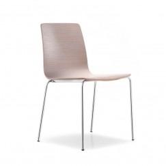 Dřevěná židle na kovové podnoži Inga 5613