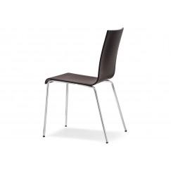 Dřevěná židle Kuadra 1331 na kovové podnoži