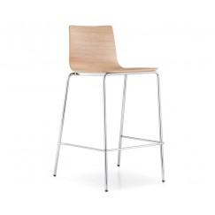 Barová židle Inga 5617 s dřěveným sedákem